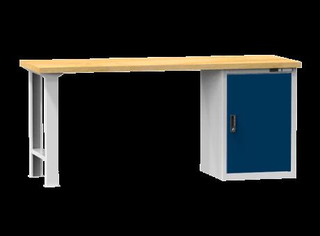 Arbeitstisch KOMBI 700 - 1x Tür, 2 Fachböden