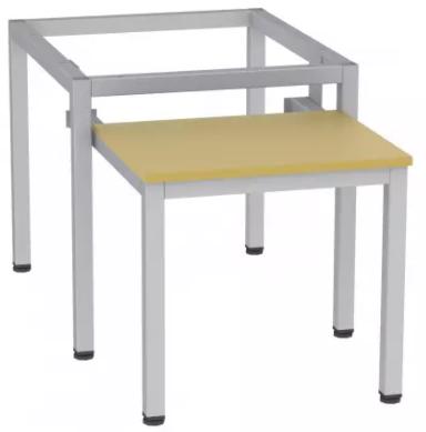 Sitzbank - ausziehbar - zum Schrank SU400/1 - 395x420x770 mm (HxBxT) - (v. Auszug 485mm)