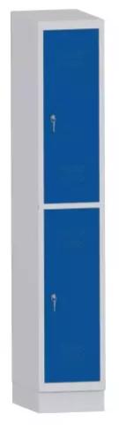 Garderobenschrank - 1 Abteil - 2 Fächer - 1800x320x480 mm (HxBxT)