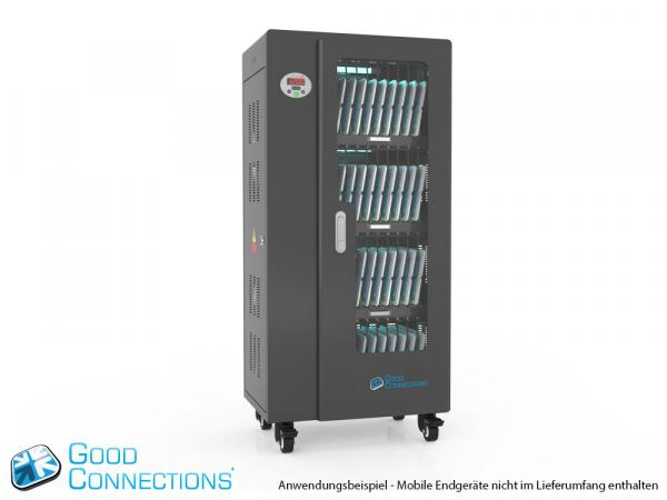 Tablet-Ladewagen für bis zu 40 Geräte - inkl. UV-C Desinfektion, Smart Control, Synchronisierung