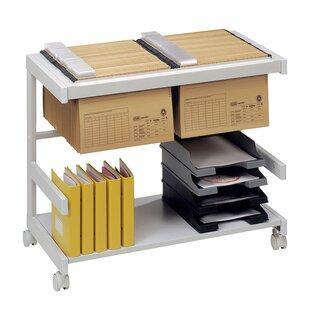 Bürowagen, 2 Ebenen, 670x810x430 mm (HxBxt), lichtgrau