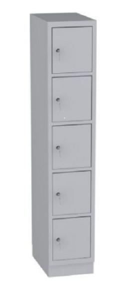 Schließfachschrank - 1 Abteil - 5 Fächer - 1950x370x480 mm (HxBxT)