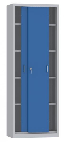Schiebetürenschrank - 4 Einlegeböden - 1950x700x600 mm (HxBxT)