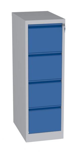 Karteischrank - 4 Schubladen - 1280x415x630 mm (HxBxT) - Hängeregister A4 - waagerecht - 1 Reihe