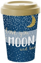Wohndekoartikel Travel Mug Love You To The Moon And Back