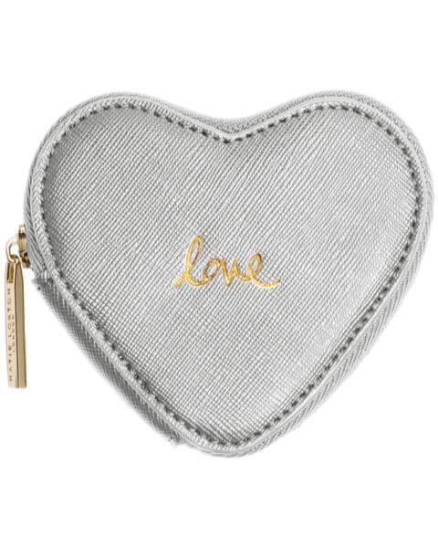 Geldbörsen Heart Coin Purse Love Silver