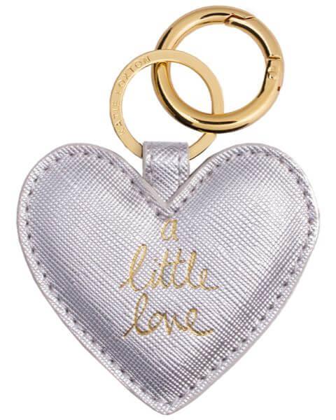 Schlüsselanhänger Heart Keyring Metallic Silver