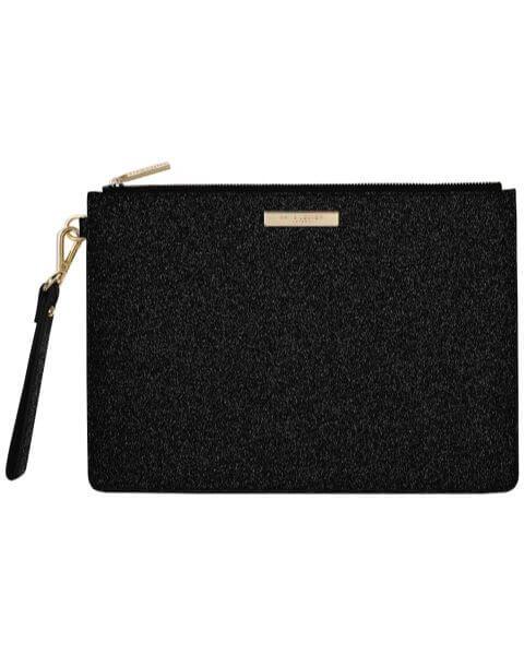 Kleine Taschen Stardust Clutch Bag Sparkly Black