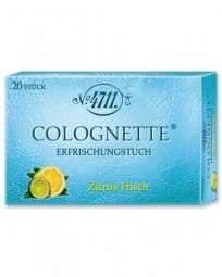Echt Kölnisch Wasser Colognette Erfrischungstücher Citrus