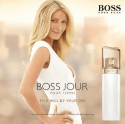 Sexy Star zieht Blicke auf sich - Dreh für Boss Jour Pour Femme
