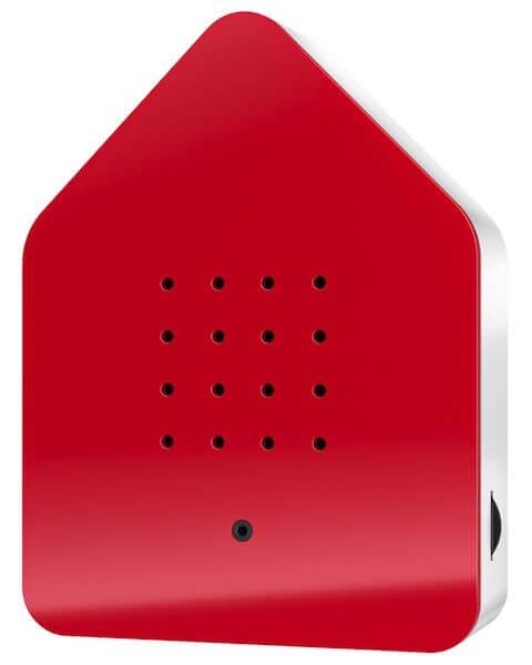 Zwitscherbox Klassik Rot Bewegungsmelder