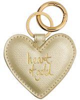 Schlüsselanhänger Heart Keyring Metallic Gold