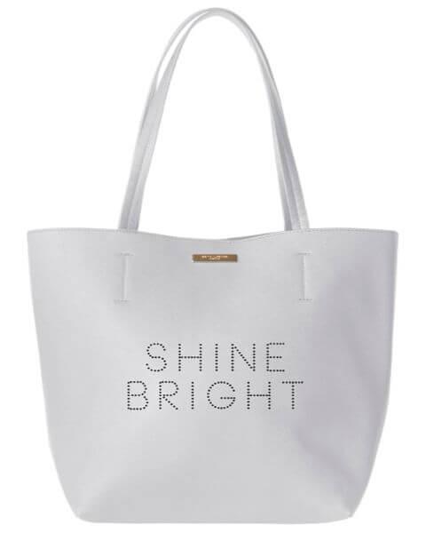 Handtaschen Shine Bright Shopper Bag Pale Grey