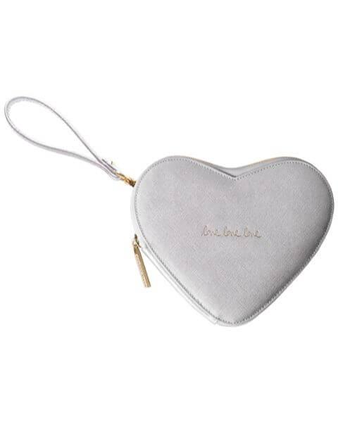 Kleine Taschen Love Heart Pouch Silver