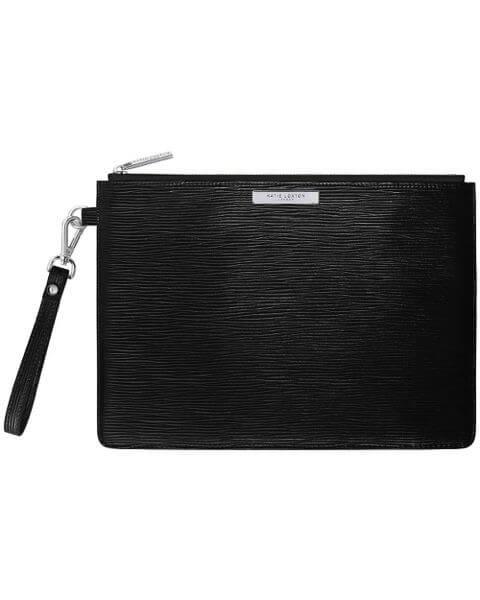 Kleine Taschen Zara Clutch Bag Metallic Black