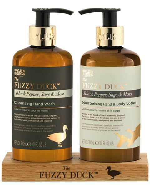 The Fuzzy Duck Black Pepper & Sage Hand Wash & Lotion Set