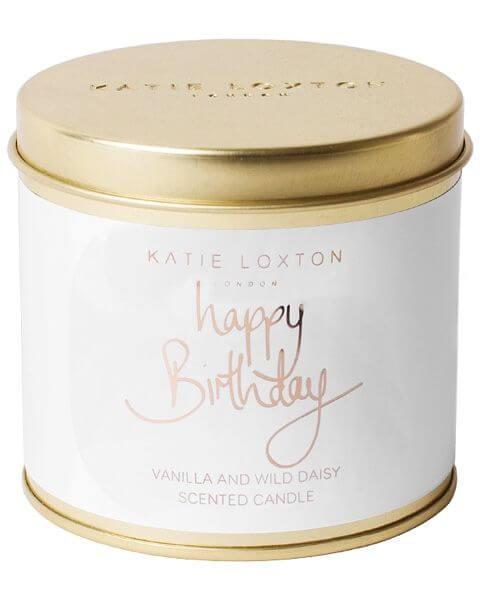 Wohnaccessoires Happy Birthday Round Tin Candle