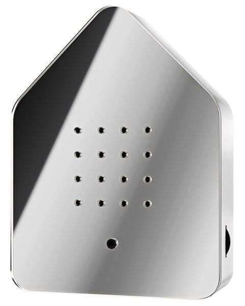 Zwitscherbox Spiegel Silber Bewegungsmelder