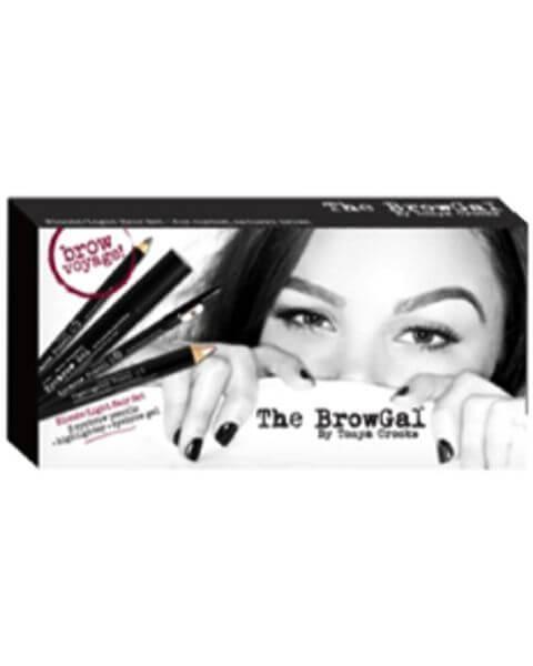 Augenmake-up Dark Hair Travel Set