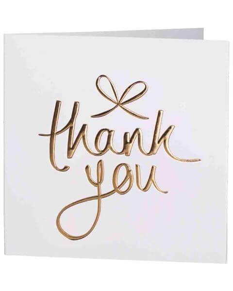 Grußkarten Thank You Mini Greeting Cards