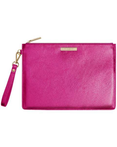 Kleine Taschen Luxe Clutch Metallic Pink