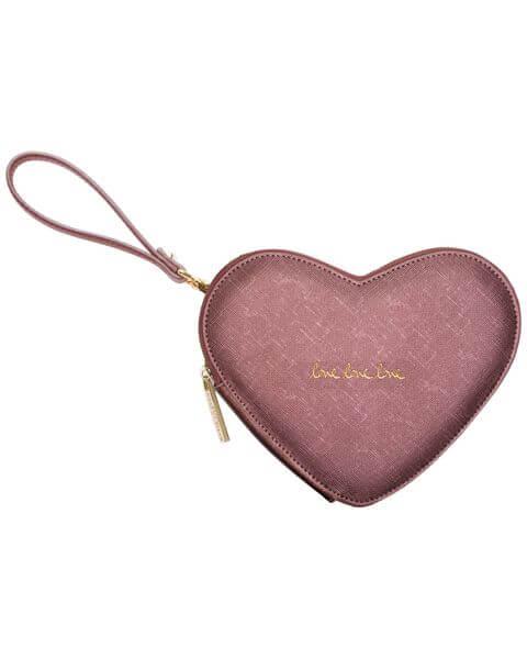 Kleine Taschen Love Heart Pouch Rose Pewter