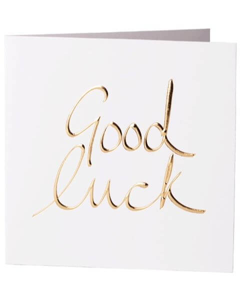 Grußkarten Good Luck Greeting Card