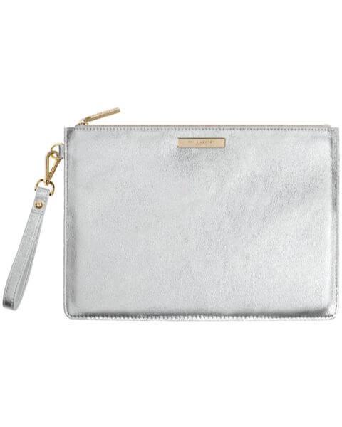 Kleine Taschen Luxe Clutch Metallic Silver
