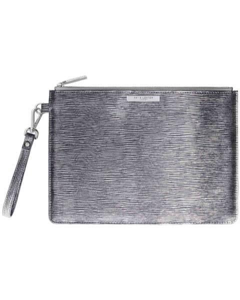 Kleine Taschen Zara Clutch Bag Metallic Silver