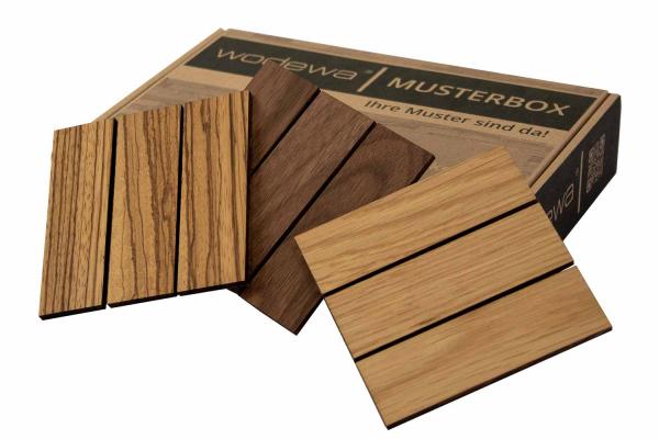 wodewa Holzmosaikfliese 30 x 93 I Musterversand