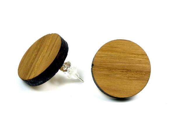 Holzohrring Eiche | Holzschmuck mit Sterling Silber