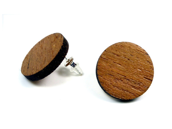 Holzohrring Teak | Holzschmuck mit Sterling Silber