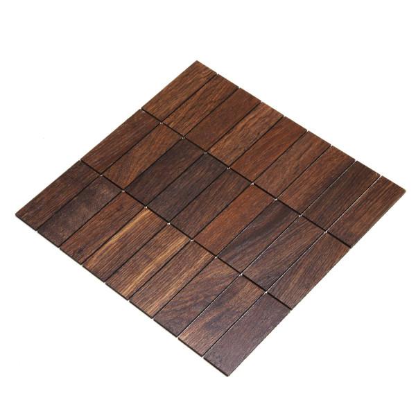 wodewa MosaikFliese aus Holz Eiche Tabak 30x93mm