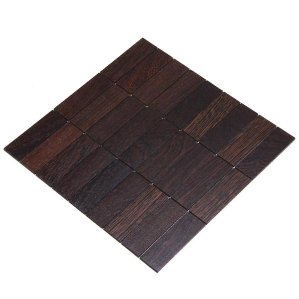 wodewa MosaikFliese aus Holz Wenge 30x93mm