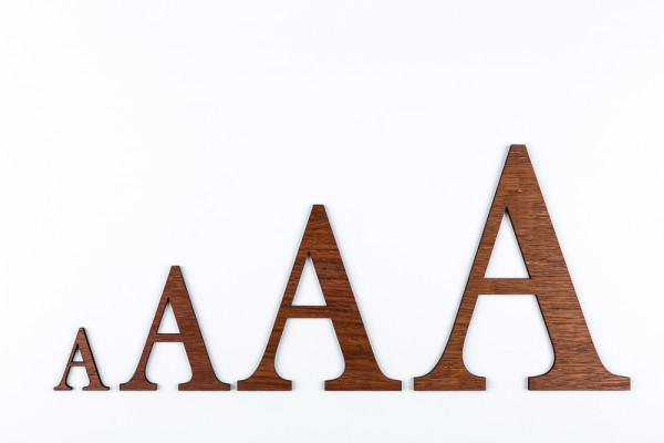 Holzbuchstaben Merbau