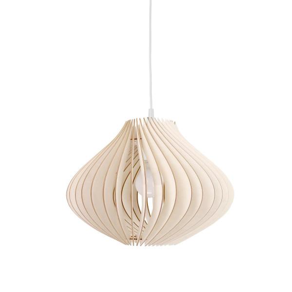 Holzlampe Ventus Hängeleuchte weiß