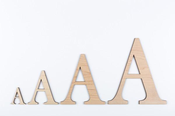 Holzbuchstaben Ahorn