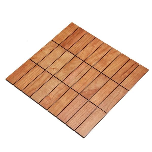 wodewa MosaikFliese aus Holz Kirsche 30x93mm