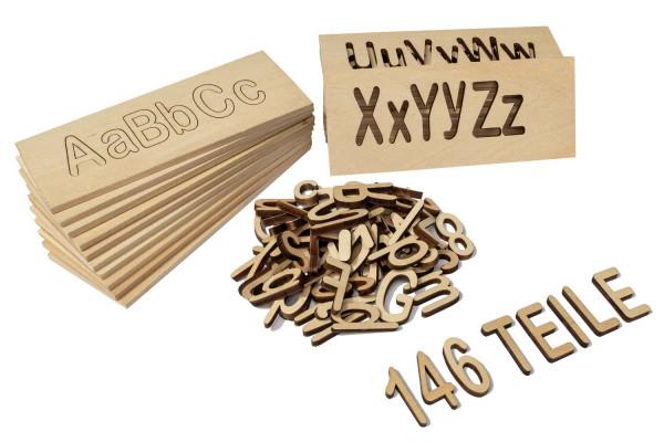 Holzbuchstaben Set 146 Teile