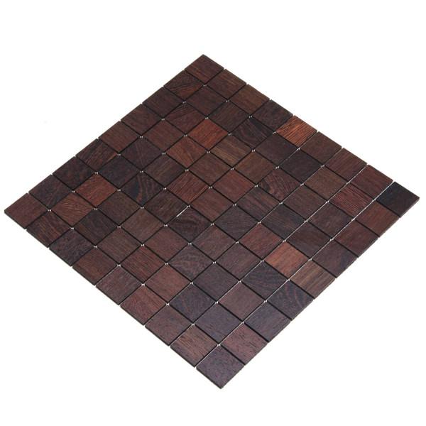 wodewa MosaikFliese aus Holz Eiche 30x30mm