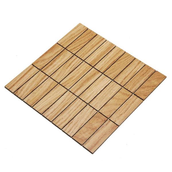 wodewa MosaikFliese aus Holz Eiche 30x93mm