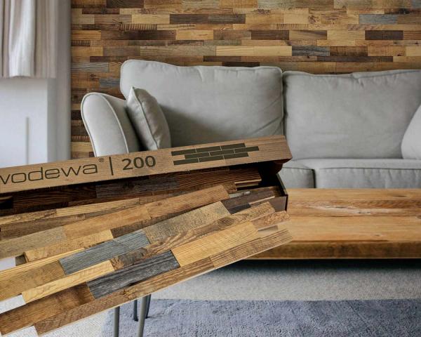 wodewa Designpaneel I original Altholz I selbstklebend