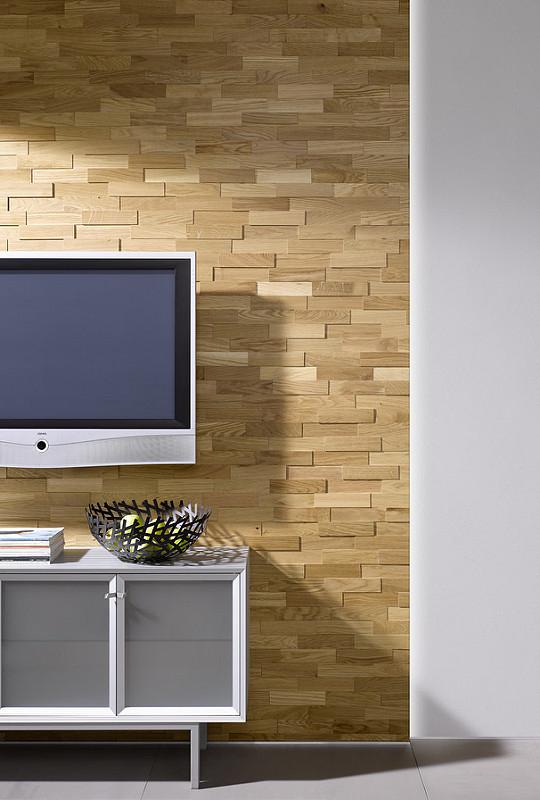 wandverkleidung aus holz f r wohnzimmer wodewa shop. Black Bedroom Furniture Sets. Home Design Ideas