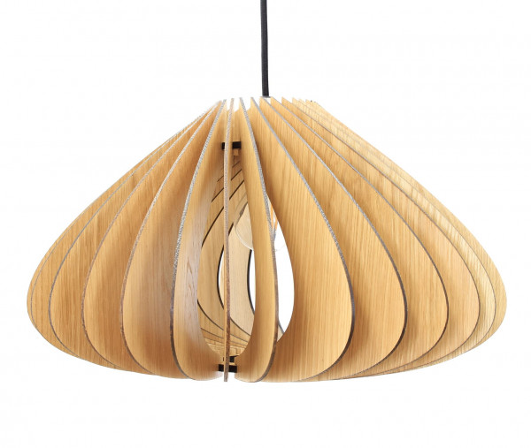 Holzleuchte | Luna | Echtholz Lampe