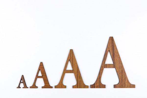 Holzbuchstaben Teak