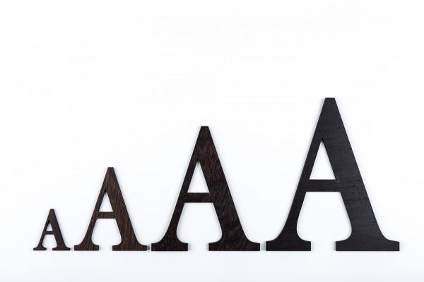 Holzbuchstaben Wenge