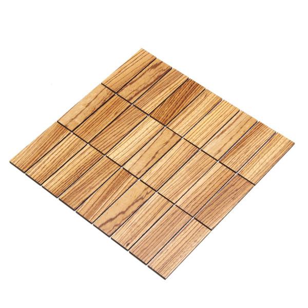 wodewa MosaikFliese aus Holz Zebrano 30x93mm