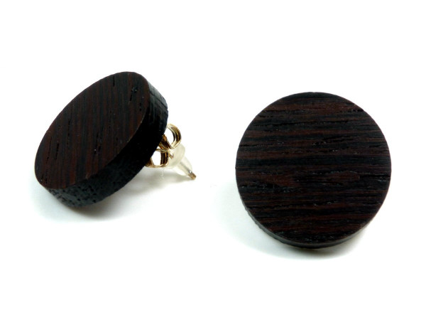 Holzohrring Wenge | Holzschmuck mit Sterling Silber
