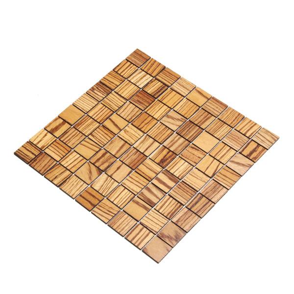 wodewa MosaikFliese aus Holz Zebrano 30x30mm