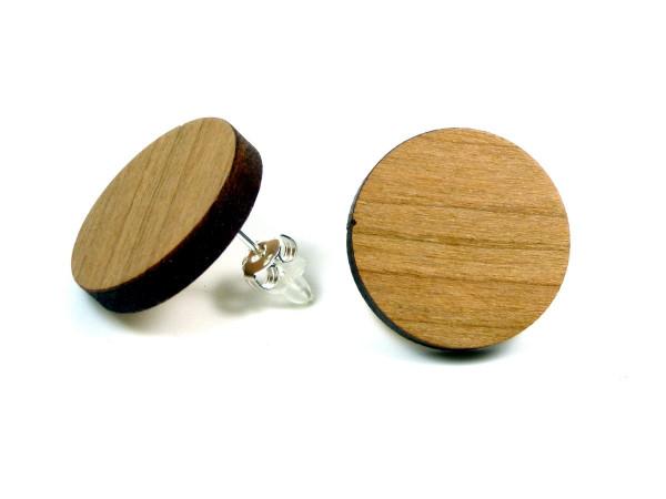 Holzohrring Kirsche | Holzschmuck mit Sterling Silber